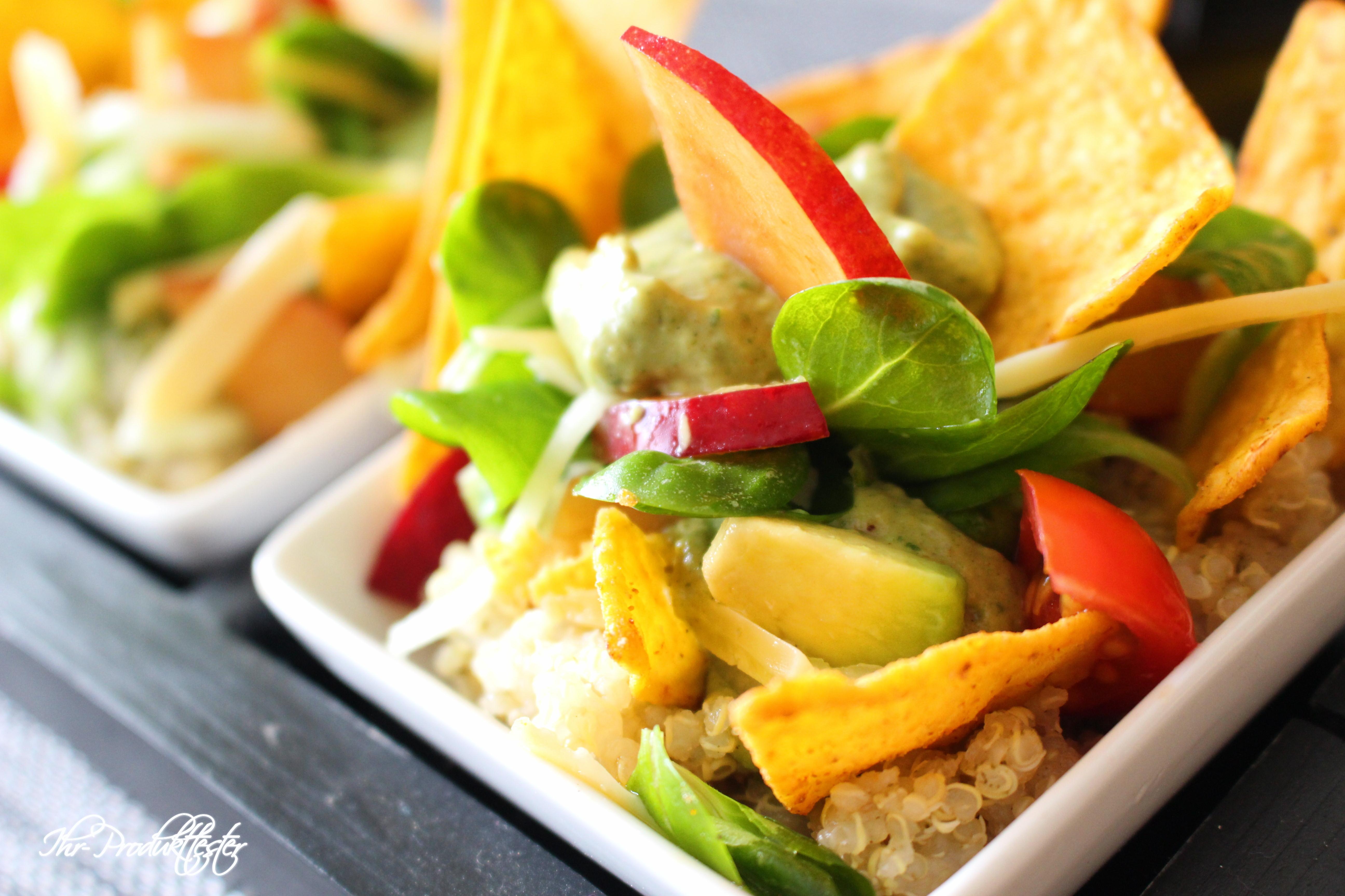 vegetarisch in den fr hling mit quinoa tacco salat rezept. Black Bedroom Furniture Sets. Home Design Ideas