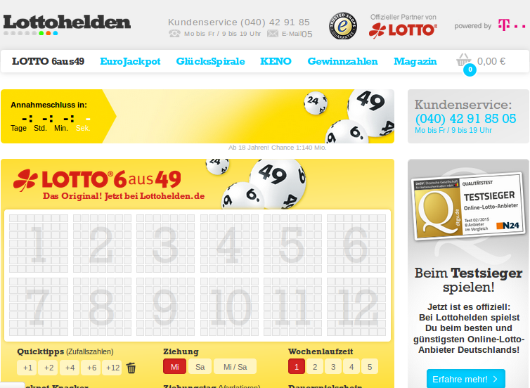 Screenshot: Lottohelden