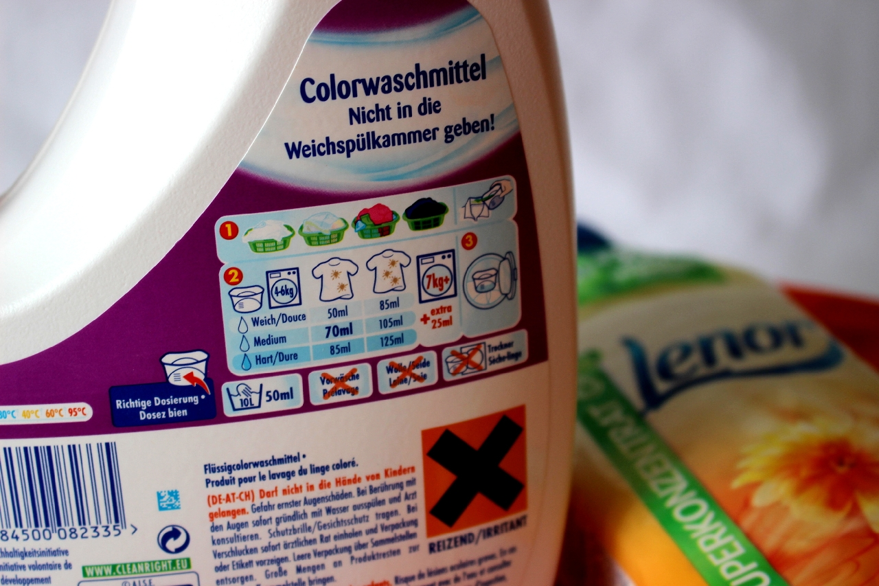 Lenor colorwaschmittel