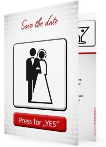 Save the date Karte online drucken: Test, Erfahung