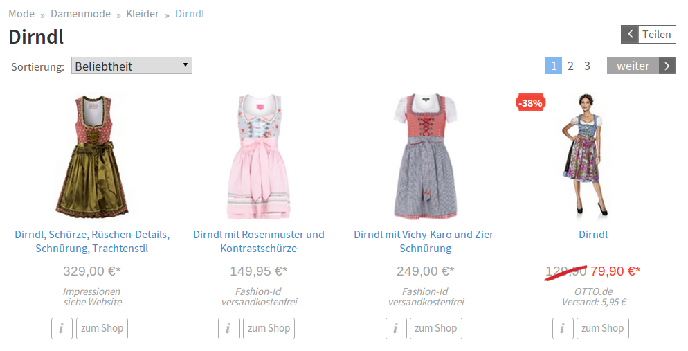 Screenshot: Netzshopping