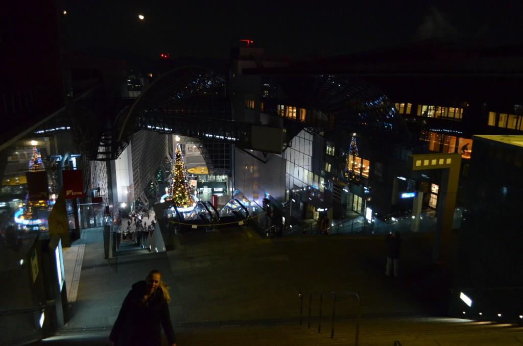 Kyoto Station Treppe zum Ausblick über die Stadt