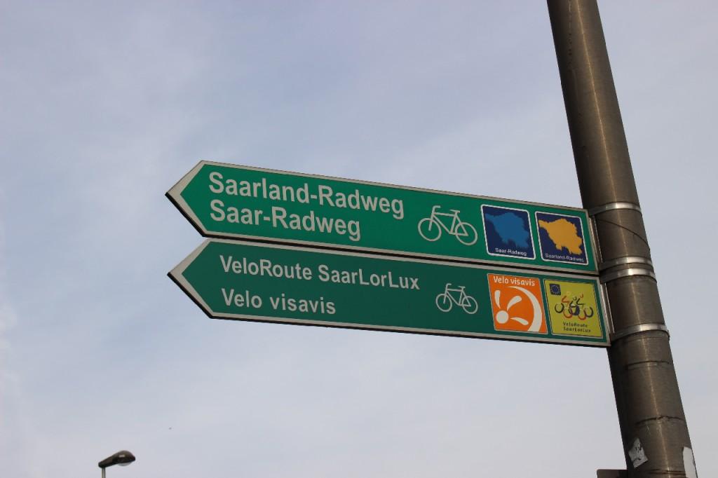 saarland-radtour-wegweise