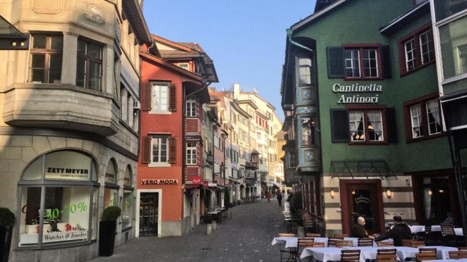 Zürich Altstadt und Fußgängerzone