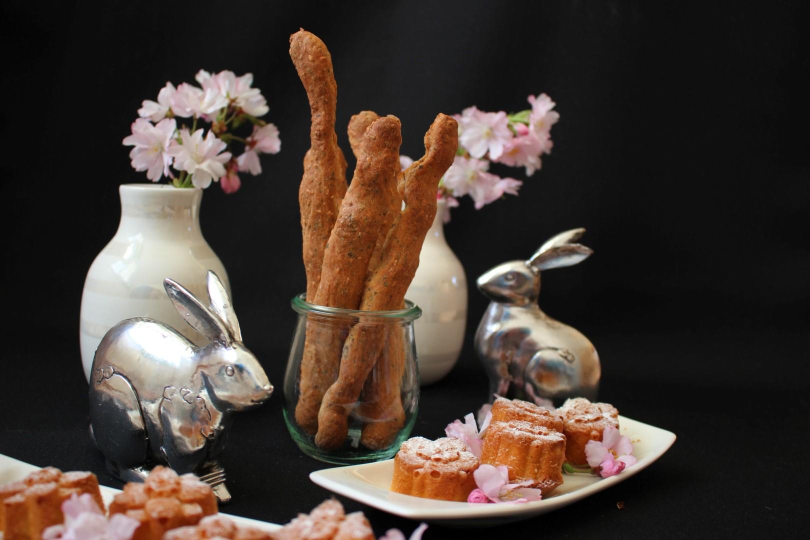 Grissini & Karotten-Kokos Fleur - Vegane Backideen zu Ostern ...