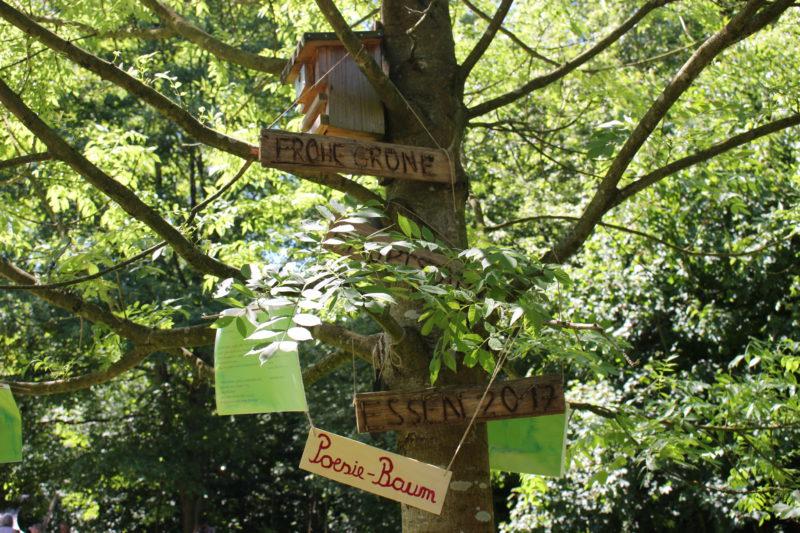 Die Gemeinschaftsgärten in Essen - Poesie-Baum Siepengarten