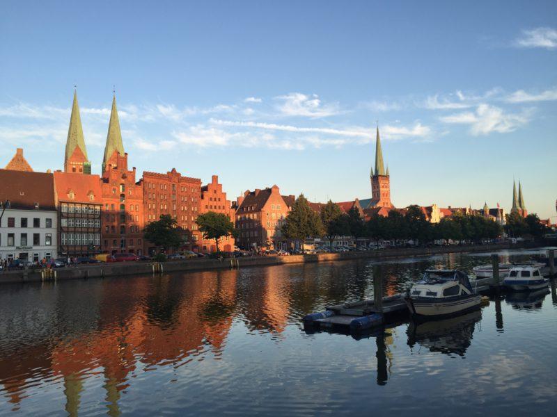 Blick Marienkirche, Marzipanspeicher und Petrikirche
