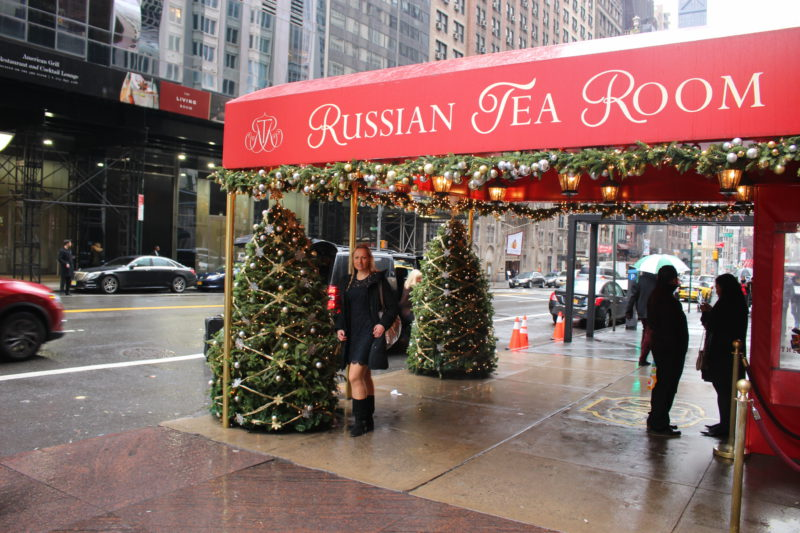 Weihnachtsbaum in New York am Russian Tea Room