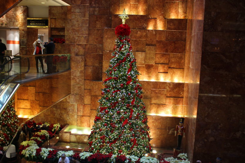 Weihnachtsbaum in New York im Trump Tower