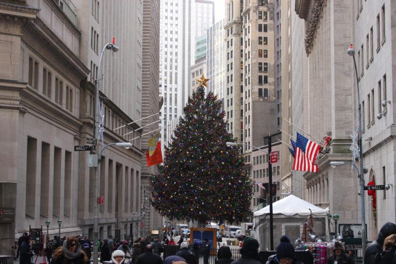 Weihnachtsbaum Wall Street