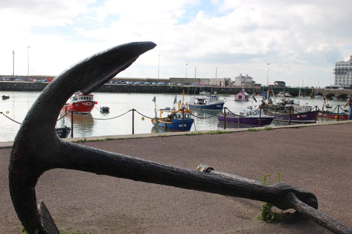 Hafen der Küstenstadt Folkstone an der Südküste Englands