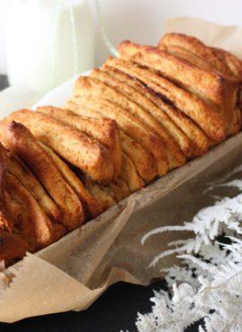 Vegane Weihnachtsbäckerei: Zupfbrot mit Spekulatiusgewürz [Rezept]