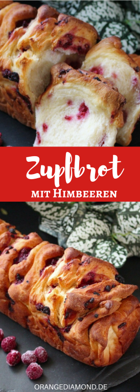 Rezept für Zupfbrot mit Himbeeren zu Ostern