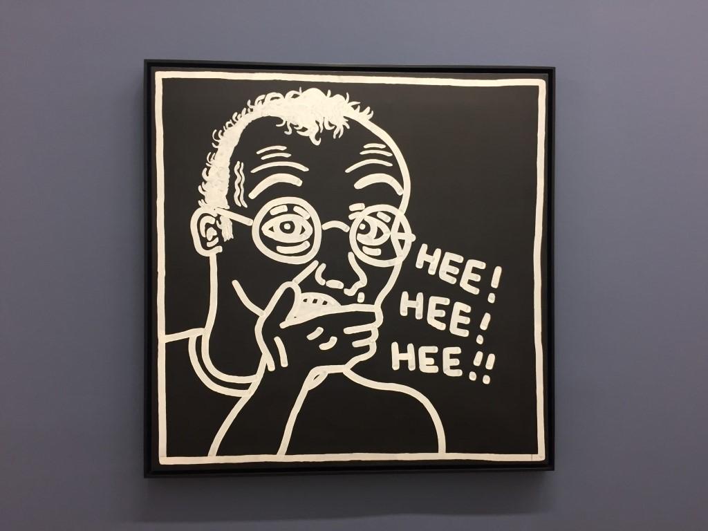 Selbstbildnis von Keith Haring in der Albertina