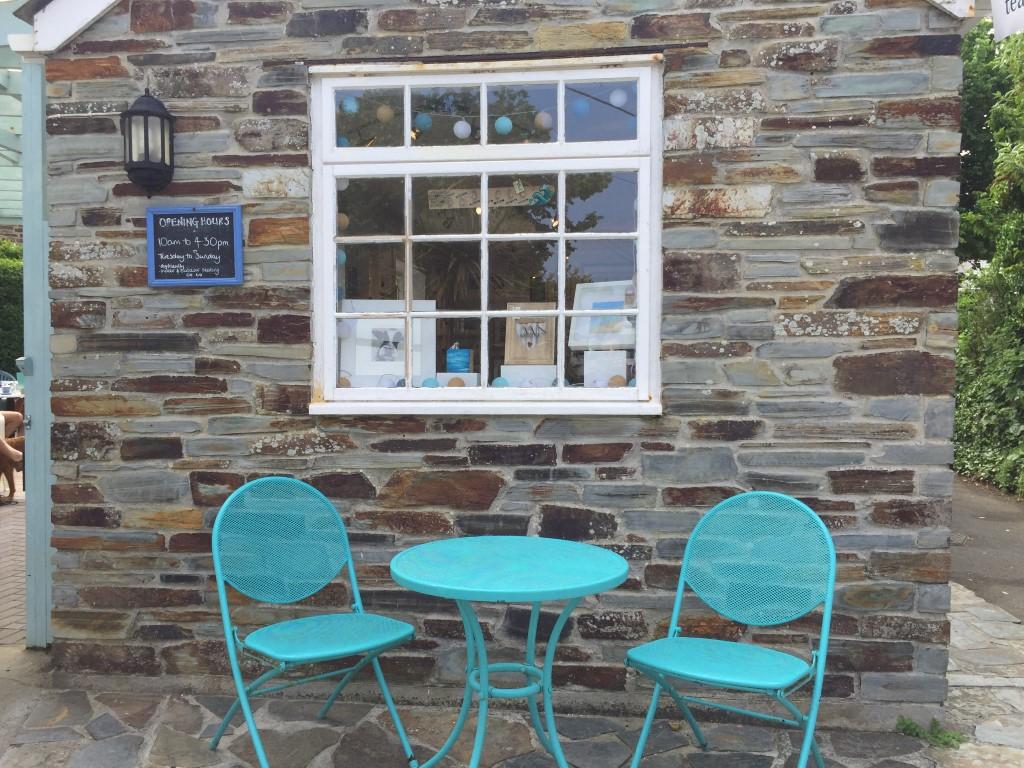 Café in Crantock bei Newquay, wunderschönes Cornwall