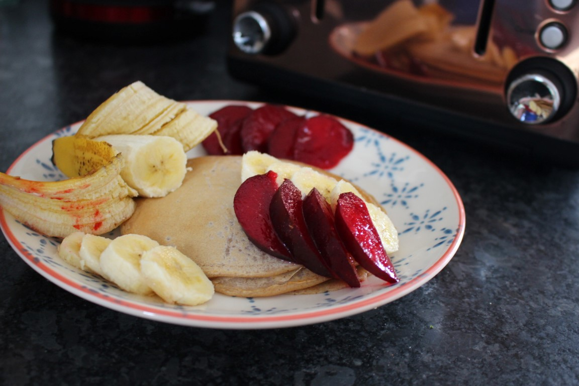 Vegan Cinammon Pancakes with Banana [Recipe]