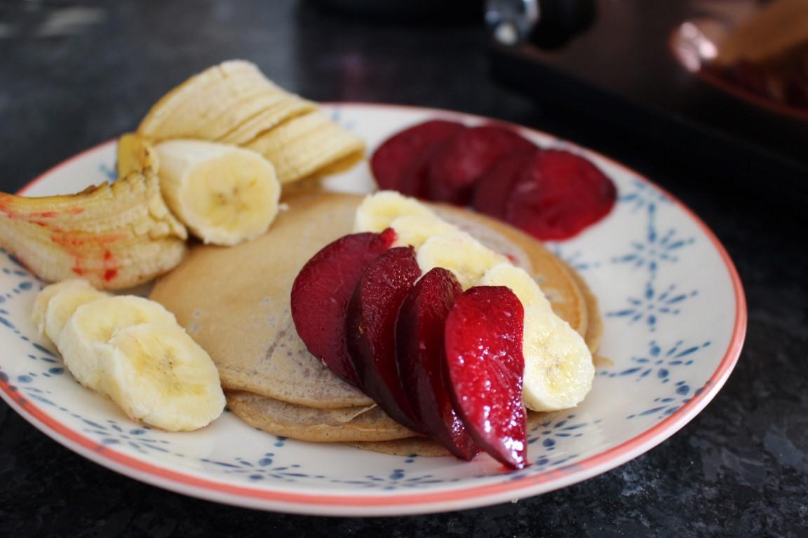 Cherrys Vegan Cinammon Pancakes mit Banenen [Rezept]