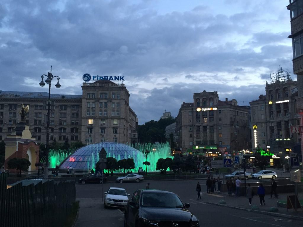 Lichterspiel auf dem Majdan-Platz