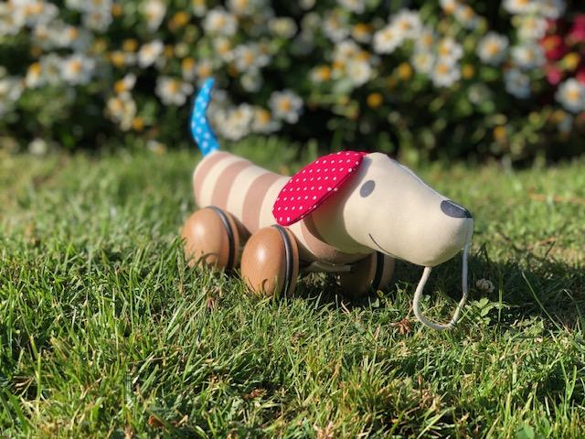 Erfahrung mit dem Nachziehhund Hugo - Lauflernspielzeug aus Holz im Test