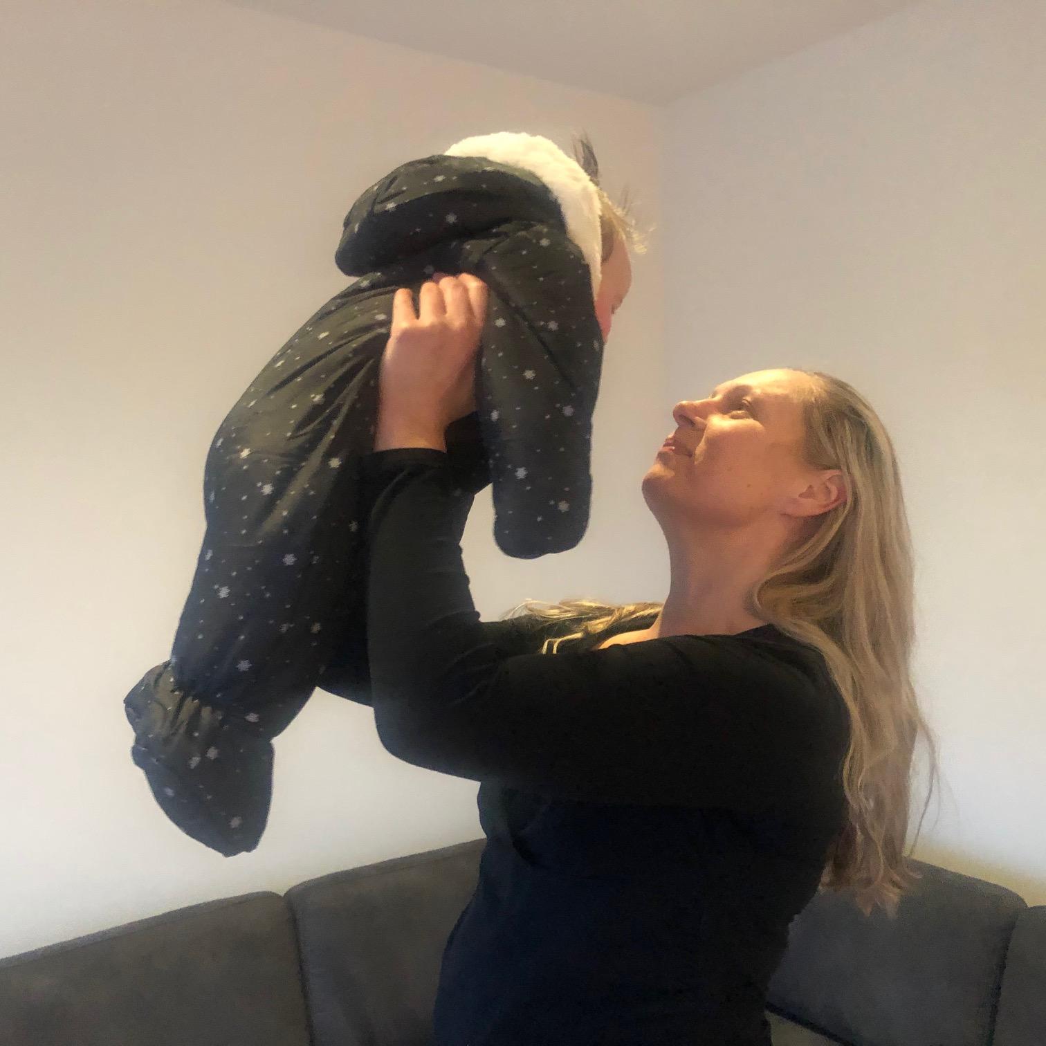 Schicker Baby Overall für den Winter von vertbaudet